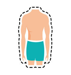 fit body icon image vector image vector image