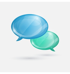 Glossy speech bubbles icon on white background vector image vector image