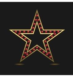 Golden luxury star vector