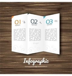 Infographic design steps 1 2 3 on wooden vector image vector image