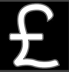Pound sterling the white color icon vector