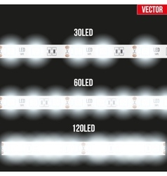 Set of typical led tapes vector