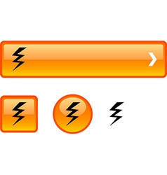 Warning button set vector