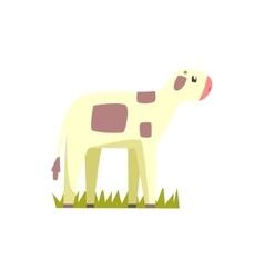 Cow Calf Toy Farm Animal Cute Sticker vector image vector image