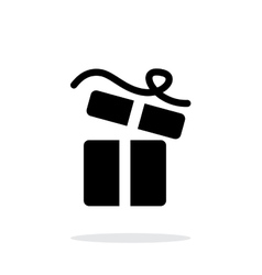 Open gift box icons on white background vector image
