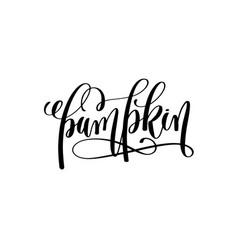 pumpkin hand lettering halloween holiday vector image vector image