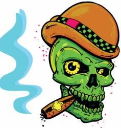punk tattoo vector image vector image