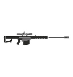 Rifle gun assault military tactical weapon army vector