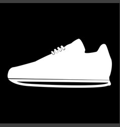 sport shoes the white color icon vector image vector image