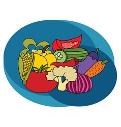 vegetables design set vector image vector image