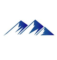 Blue mountains logo vector image vector image