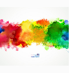 bright watercolor stains vector image vector image