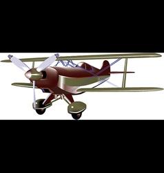 cartoon biplane vector image vector image
