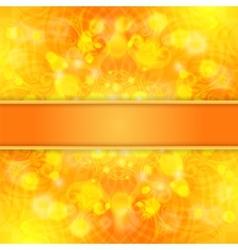 Elegant orange ornate background with lace vector image vector image