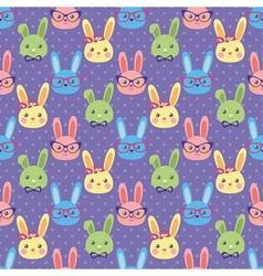Smart bunny vector image