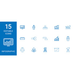 15 infographic icons vector image