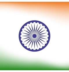 Abstract India flag background vector image