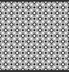 abstract seamless pattern of circles and dots vector image