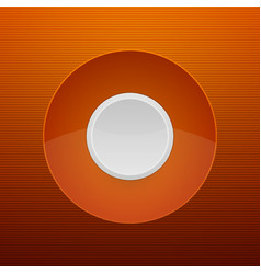 Abstract White Button on Orange Background vector