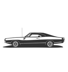 american muscle car vintage hot rod with power vector image