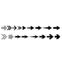 arrow collection arrow icon design element vector image