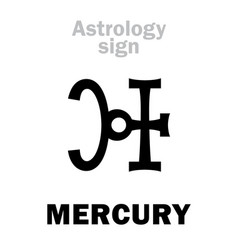 Astrology planet mercury vector