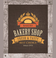 Banner for bakery shop with mill loaf and ears vector
