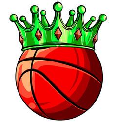 basketball king crown sport winner icon emoji vector image