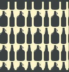 beer bottle pattern seamless background vector image vector image
