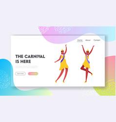 Brazilian samba dancer miss beauty website vector