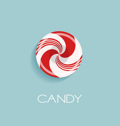 Bright poster with candy drop vector
