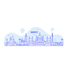 Budapest skyline hungary city buildings vector