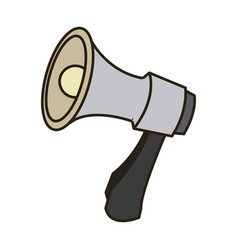 Cartoon megaphone icon social media marketing vector