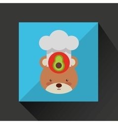 Chef animal design vector