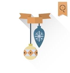 Christmas Ball With Ribbon vector image