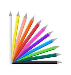 Colour pencil set vector