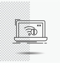 Connection error internet lost internet line icon vector
