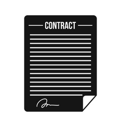 Contract icon in simple style vector