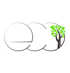 eco symbol and tree vector image