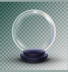 empty snow globe shadows reflection and vector image