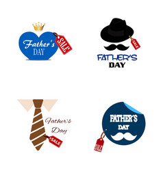 Fathers day sale vector