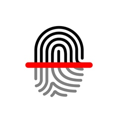 Fingerprint scan vector image
