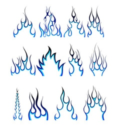 fire pattern set vector image