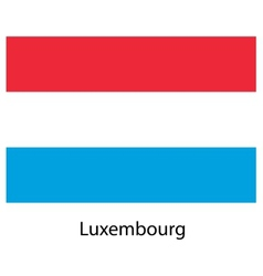 Flag of the country luxembourg vector image