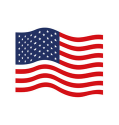 Flag united states of america wave colorful icon vector