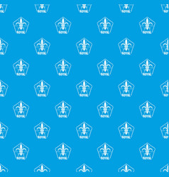 fleur pattern seamless blue vector image
