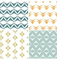 Four abstract arrow shapes seamless patterns set vector