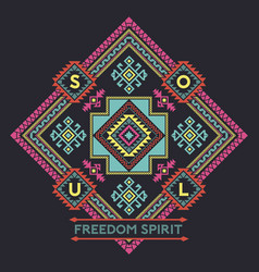 Freedom spirit native american style vector