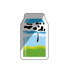 Fresh milk dairy vector image