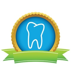 Gold tooth logo vector